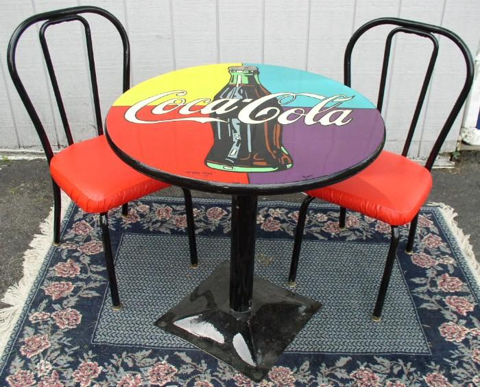 Coca cola table and chairs brass lantern antiques - Coca cola table and chairs set ...