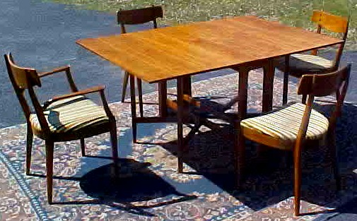 Drexel Declaration Dining Table And Chairs By Kipp Stewart, BRASS LANTERN  ANTIQUES