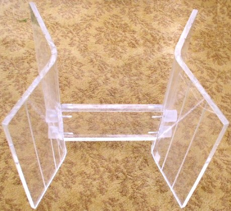 Lucite Base for Glass Top Coffee Table BRASS LANTERN ANTIQUES