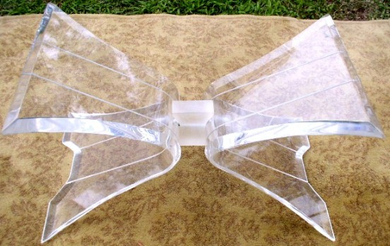 Lucite Butterfly Coffee Table Base BRASS LANTERN ANTIQUES