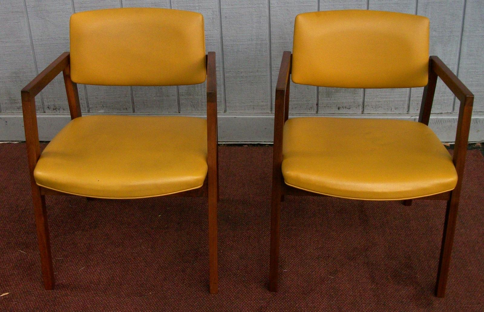 Pair Of Mid Century Modern Padded Chairs Made By Marble Imperial Furniture Company