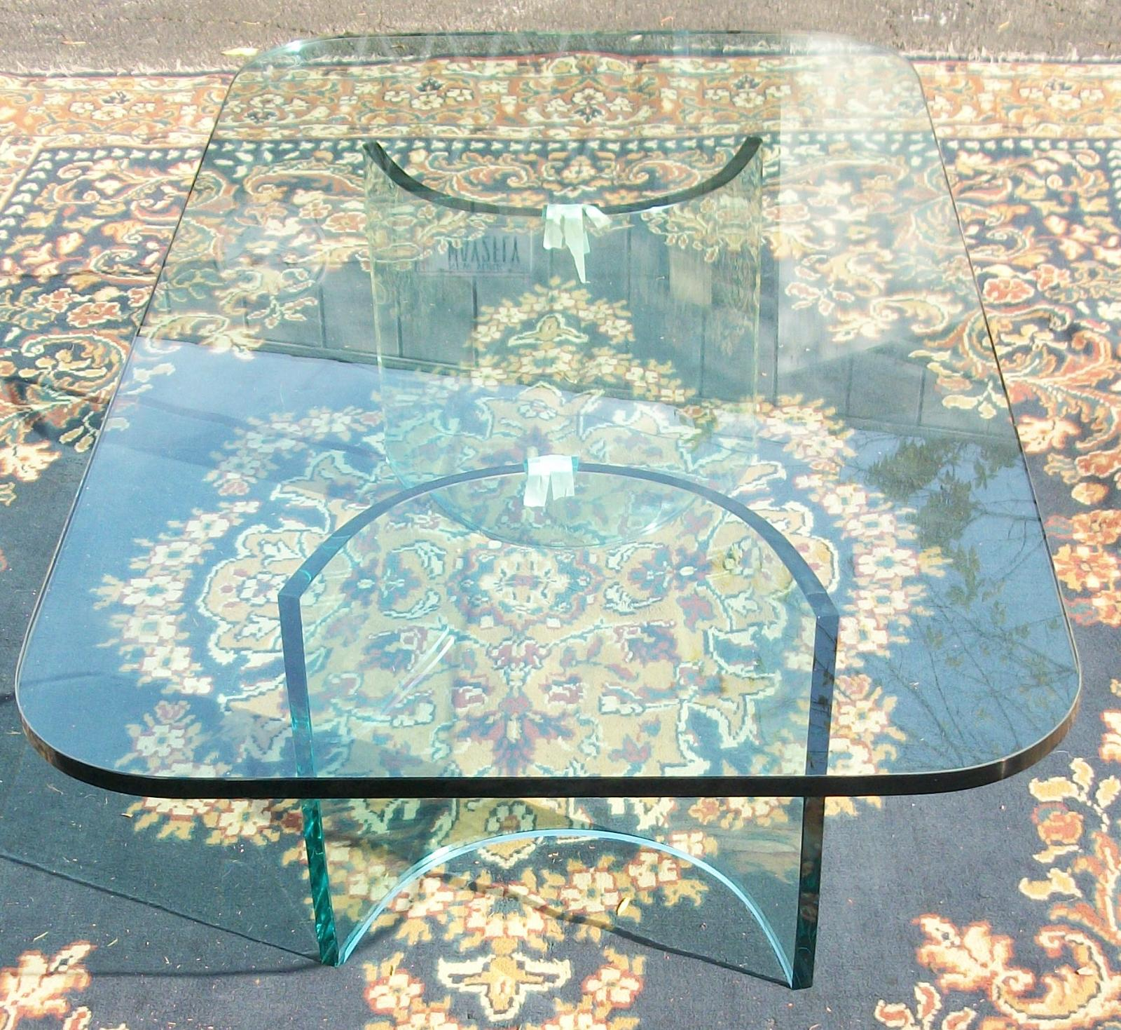Pace Glass Top Coffee Table Brass Lantern Antiques