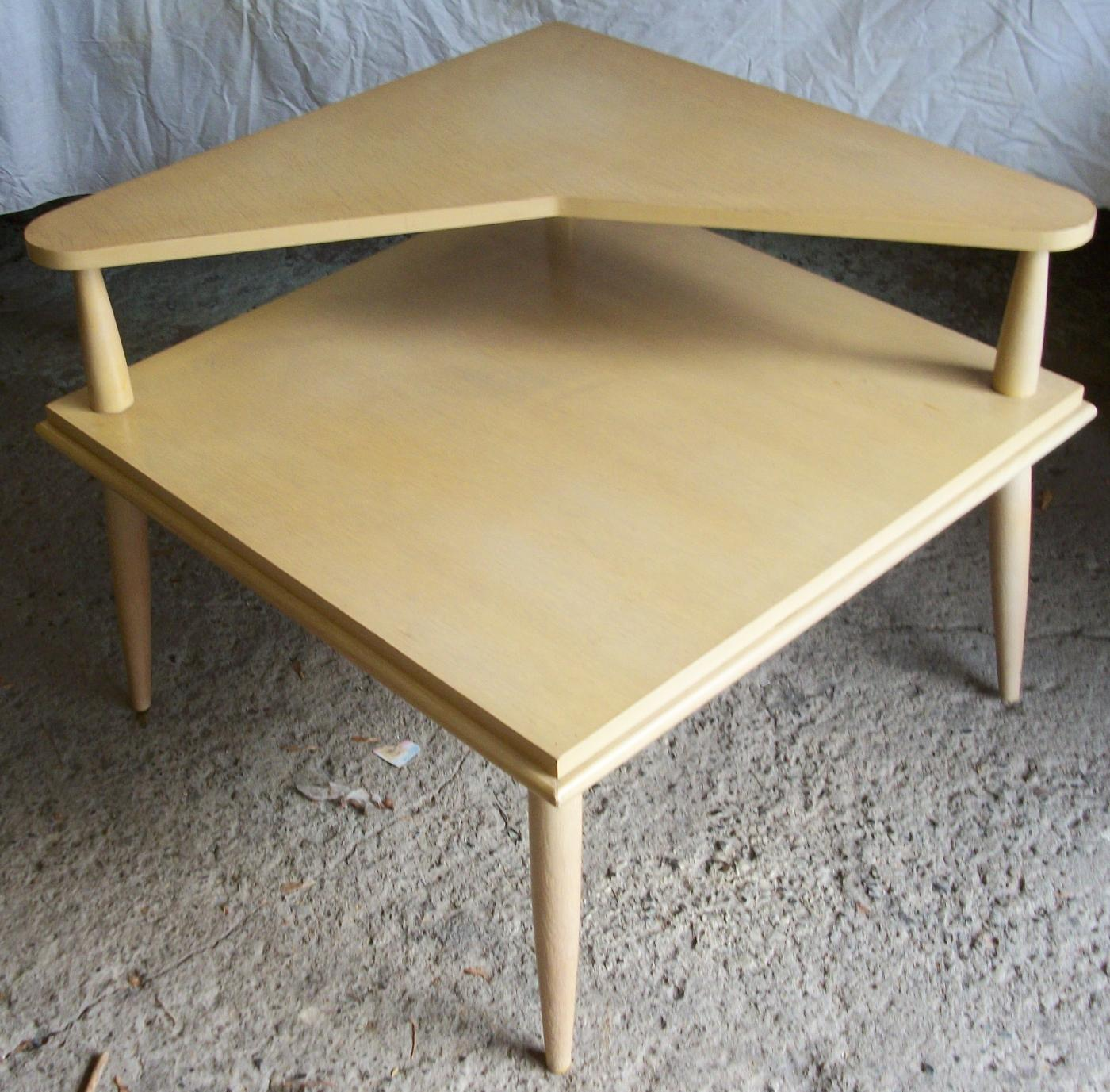 Mid Century End Table Table Ideas - Black corner end table