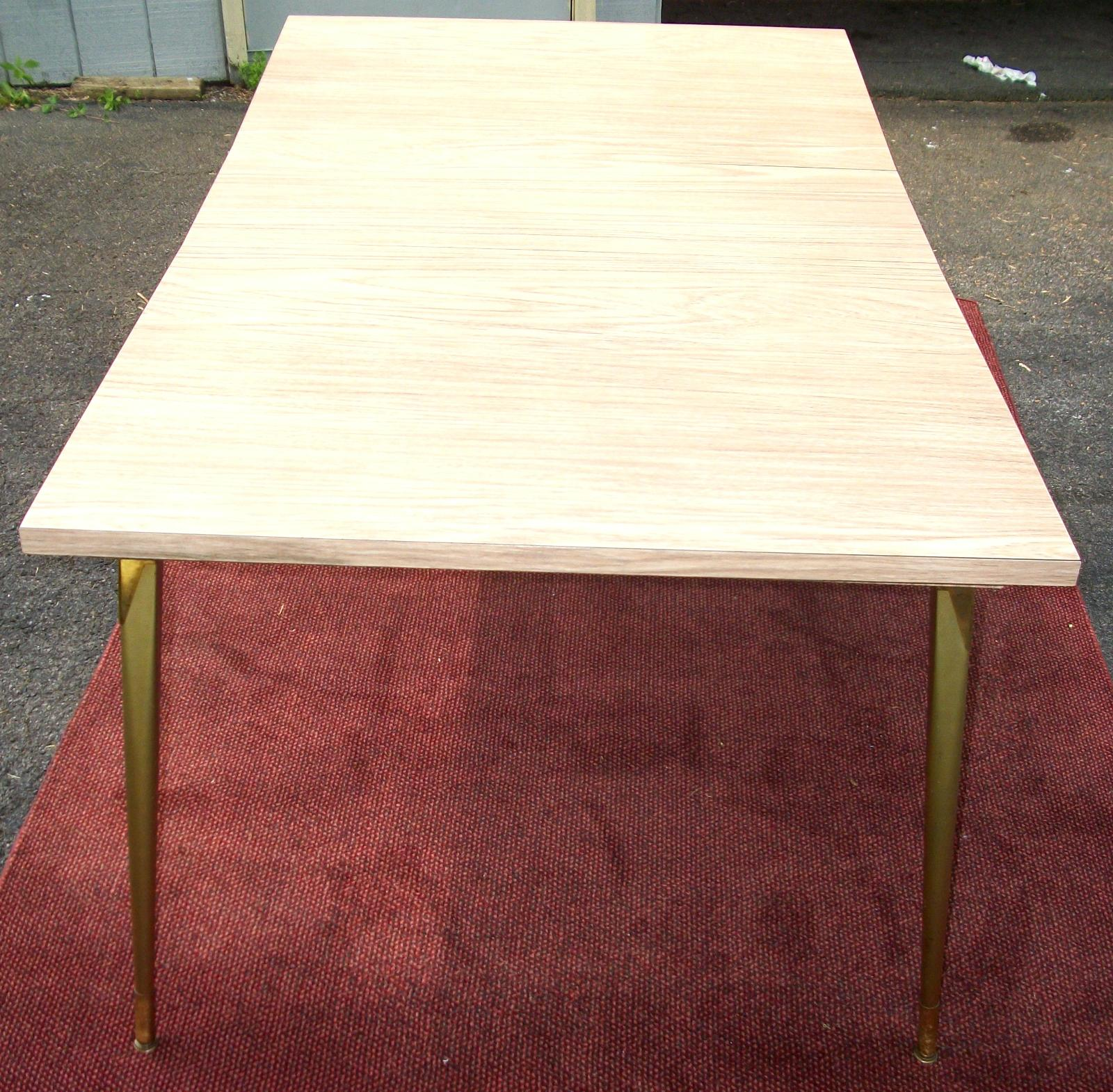 50s formica top table with 4 chairs brass lantern antiques - Formica top kitchen table ...