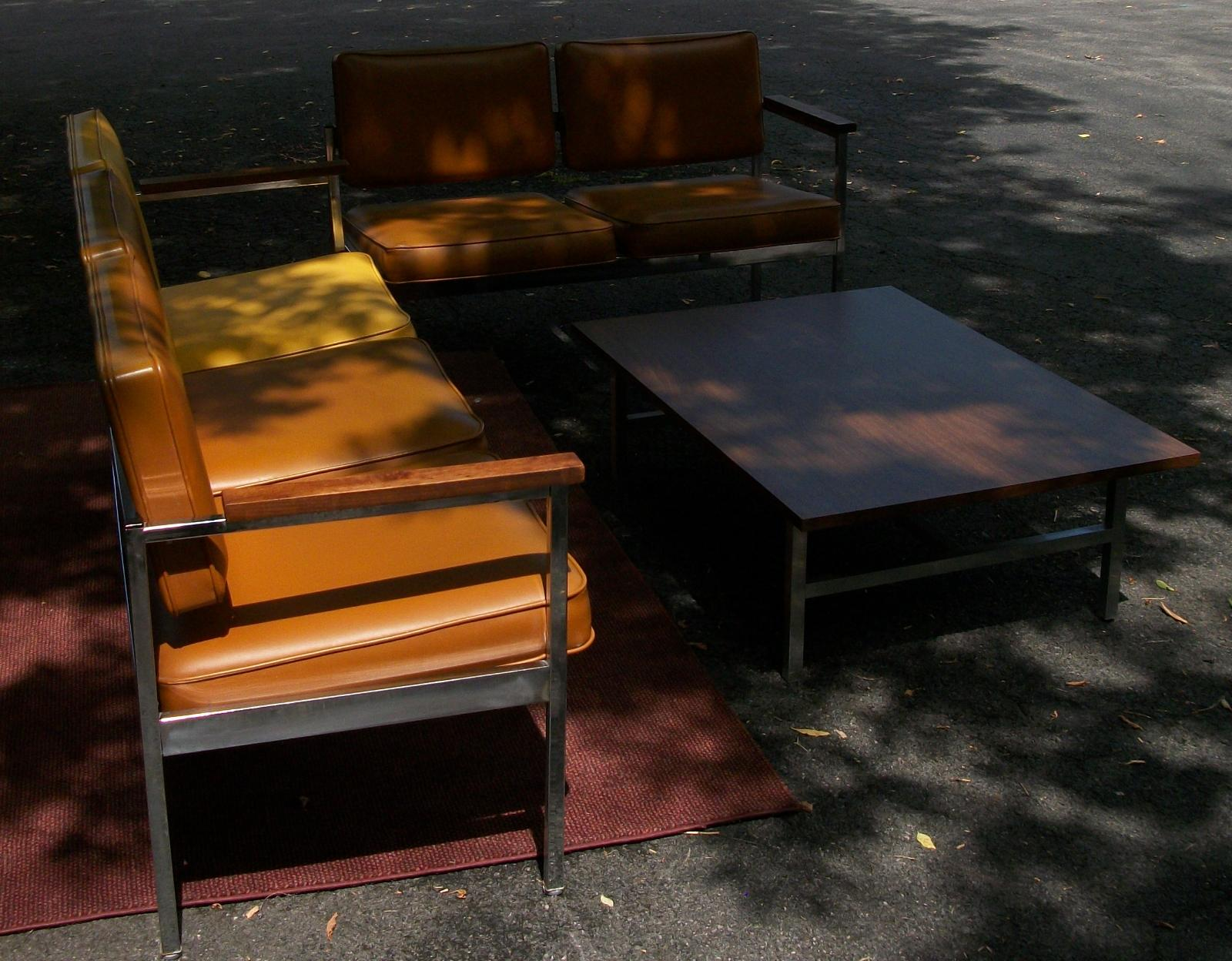 United Chair Company Division Of U.S. Industries, Inc. The Table And  Couches Are In Excellent Condition. The Table Measures:
