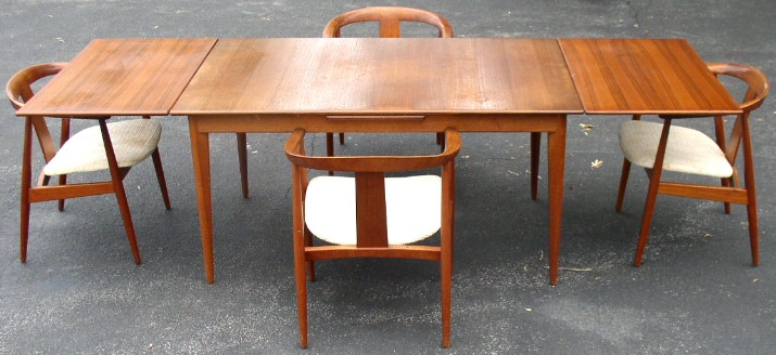 Table Made In Sweden And Armchairs Denmark Were Purchased Together By The Original Owner Measures 39 Wide With Leaves Retracted It